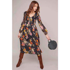 ASTR the Label Chevonne Smocked Midi Dress Floral